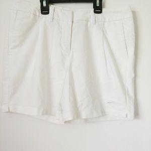 Nike dri fit size 4 white shorts